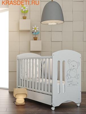 Кроватка 120x60 Micuna Sweet Bear Basic + Матрас полиуретановый СН-620 (фото, вид 1)