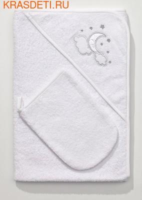 Полотенце-уголок Funnababy 90x90 см + варежка (фото, вид 3)
