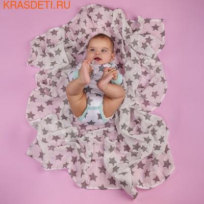 Пеленка Happy Baby муслиновая Звезды (фото, вид 4)