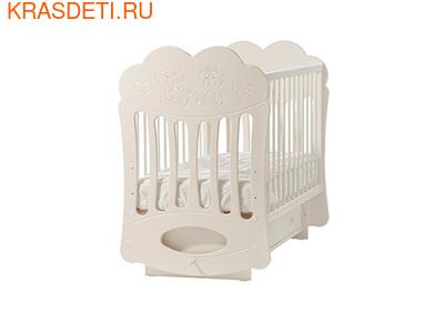 """Лель Кровать с поперечным маятником """"Baby Sleep-1"""" Мишки (фото, вид 1)"""