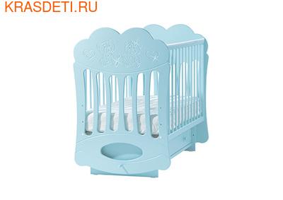 """Лель Кровать с поперечным маятником """"Baby Sleep-1"""" Мишки (фото, вид 2)"""