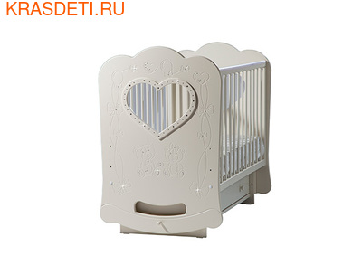 """Лель Кровать с поперечным маятником """"Baby Sleep-2"""" Мишки (фото, вид 1)"""
