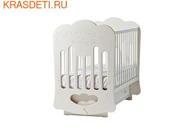 """Лель Кровать с поперечным маятником """"Baby Sleep-3"""" Мишки (фото, вид 1)"""