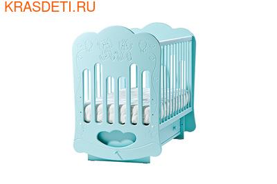 """Лель Кровать с поперечным маятником """"Baby Sleep-3"""" Мишки (фото, вид 2)"""