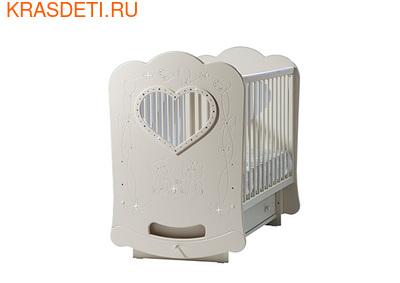 """Лель Кровать с продольным маятником """"Baby Sleep-5"""" Мишки (фото, вид 1)"""