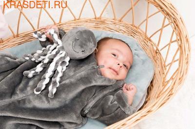 Мягкая игрушка Nattou Soft Toy Octopus Осьминог (фото, вид 3)