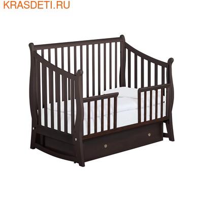 Детская кроватка маятник Maggy 125x65 Papaloni (фото, вид 2)