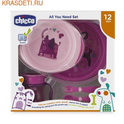 Набор детской посуды Chicco (5 предметов), 12 мес.+ (фото, вид 1)