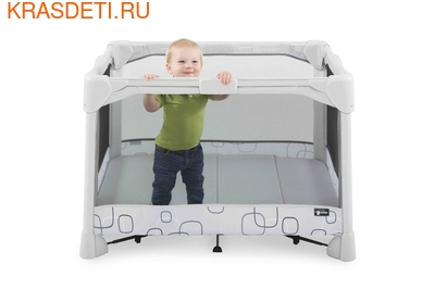 Манеж-кровать 4 moms Breeze Classic серый (фото, вид 3)