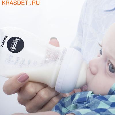 Joovy Набор стеклянных бутылочек с силиконовым чехлом Boob Baby 150мл бирюзовый (фото, вид 1)