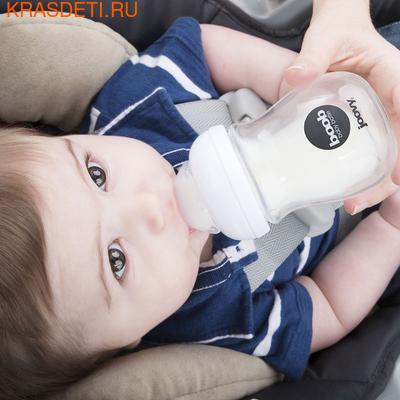 Joovy Набор стеклянных бутылочек с силиконовым чехлом Boob Baby 150мл бирюзовый (фото, вид 2)