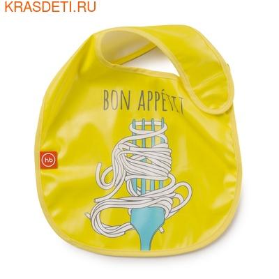 Нагрудник на липучке WATER-PROOF BABY BIB Happy Baby (фото, вид 4)