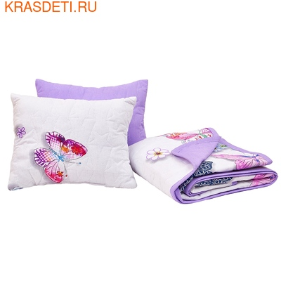 Giovanni Покрывало с подушками в кровать для дошкольников (3 предмета) Butterfly (Shapito by Giovanni ®) (фото, вид 1)