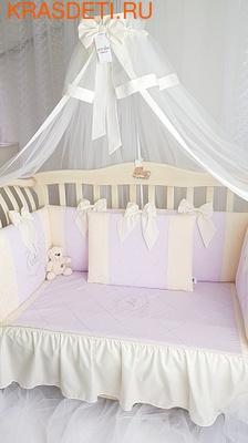 Eco-Line Набор в детскую кроватку для новорожденных - Сочная Пудра 11пр (фото, вид 1)