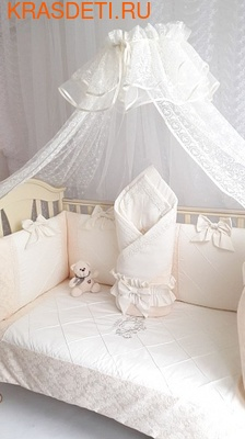 Eco-Line Набор в детскую кроватку для новорожденных - Сочная Пудра 11пр (фото, вид 3)