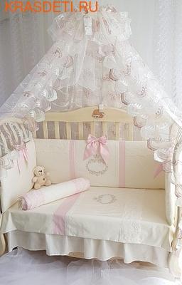 Eco-Line Набор в кроватку для новорожденных MILANA (фото, вид 4)