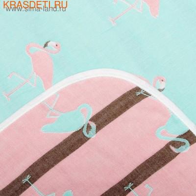 Одеяло лёгкое Крошка Я Фламинго (фото, вид 1)
