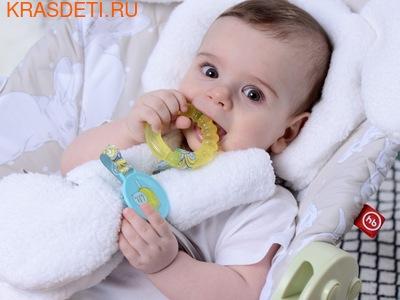 Happy Baby Прорезыватель с водой с держателем (фото, вид 3)