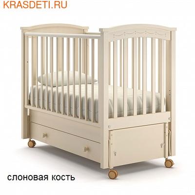 Nuovita Детская кровать Perla solo swing продольный (фото, вид 2)