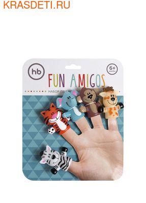 Happy Baby FUN AMIGOS набор игрушек на пальцы 6 мес. – 3 года (фото, вид 2)