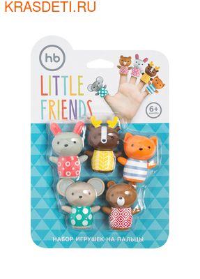 Happy Baby LITTLE FRIENDS набор пвх–игрушек на пальцы для ванной от 6 мес. (фото, вид 1)