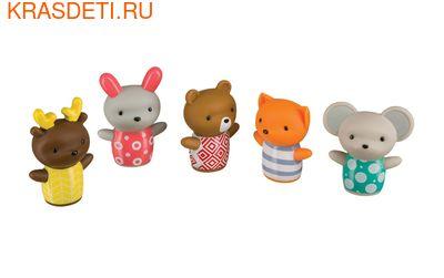 Happy Baby LITTLE FRIENDS набор пвх–игрушек на пальцы для ванной от 6 мес. (фото, вид 2)