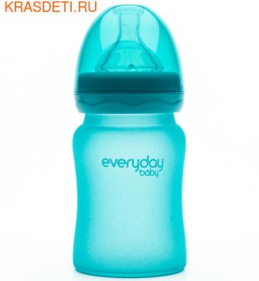 EveryDay baby Бутылочка с индикатором температуры из стекла, 150 мл (фото, вид 1)