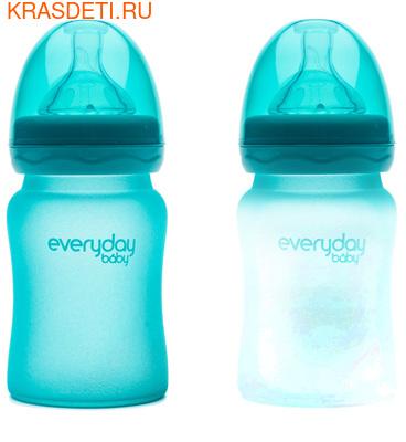 EveryDay baby Бутылочка с индикатором температуры из стекла, 150 мл (фото, вид 2)