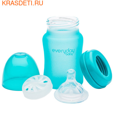 EveryDay baby Бутылочка с индикатором температуры из стекла, 150 мл (фото, вид 3)