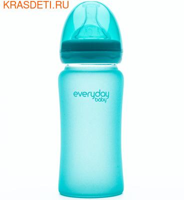 EveryDay Baby Бутылочка с индикатором температуры из стекла, 240 мл (фото, вид 1)