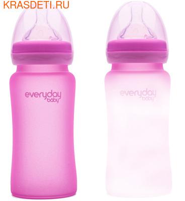 EveryDay Baby Бутылочка с индикатором температуры из стекла, 240 мл (фото, вид 3)