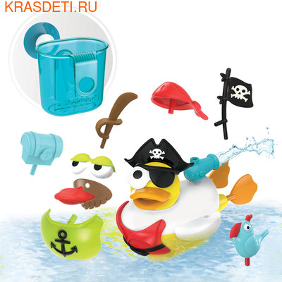 """Yookidoo Игрушка водная """"Утка-пират"""" с водометом и аксессуарами (фото, вид 3)"""