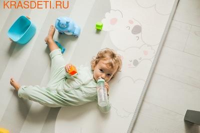 Детский коврик Prime Living 'Коалы/Слоники за хвостики', 200x180x1.5 см (фото, вид 4)