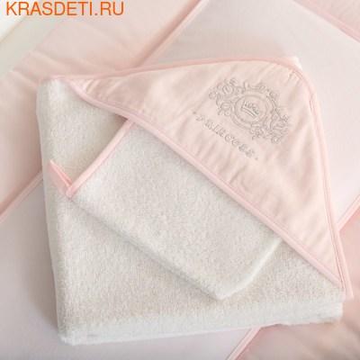 Полотенце-уголок Funnababy PrinceиFunnababy Princess 90x90 см + варежка (фото)