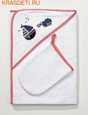 Полотенце-уголок Funnababy 90x90 см + варежка (фото)