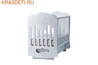 """Лель Кровать с поперечным маятником """"Baby Sleep-3"""" Мишки (фото)"""