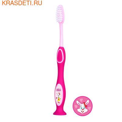 Chicco Зубная щетка с присоской 3- 6 лет