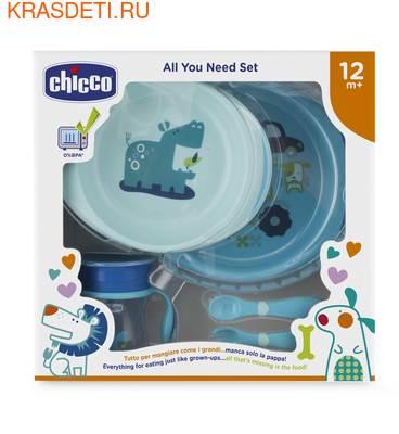 Набор детской посуды Chicco (5 предметов), 12 мес.+ (фото)
