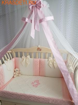 Eco-Line Набор в детскую кроватку для новорожденных - Сочная Пудра 11пр (фото)
