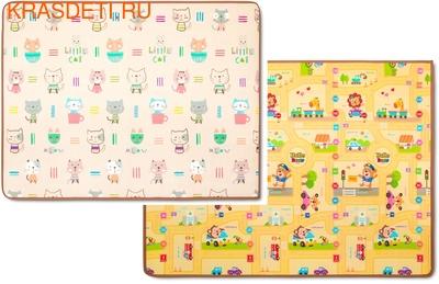 Детский коврик Parklon Prime Living, 200x150x1.0 см (фото, Котики/Веселый город)