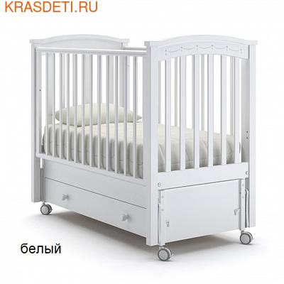 Nuovita Детская кровать Perla solo swing продольный (фото)