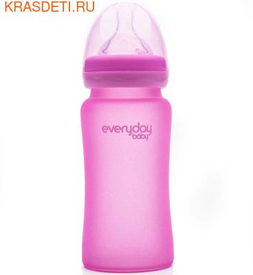 EveryDay Baby Бутылочка с индикатором температуры из стекла, 240 мл (фото)