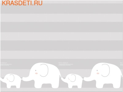 Детский коврик Prime Living 'Коалы/Слоники за хвостики', 200x180x1.5 см (фото)
