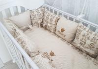 """Комплект постельного белья с подушками коллекция """"Королевская"""" (беж)"""
