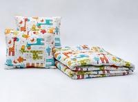 Giovanni Покрывало с подушками в кровать для дошкольников (3 предмета) Safari Kids