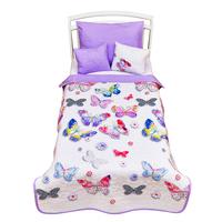 Giovanni Покрывало с подушками в кровать для дошкольников (3 предмета) Butterfly (Shapito by Giovanni ®)