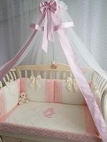 Eco-Line Набор в детскую кроватку для новорожденных - Сочная Пудра 11пр
