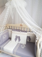 """Eco-Line Набор в кроватку для новорожденного """"Madrid"""" 11предметов"""