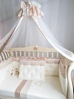 Eco-Line Набор в кроватку для новорожденных MARGARET 11пр