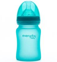 EveryDay baby Бутылочка с индикатором температуры из стекла, 150 мл